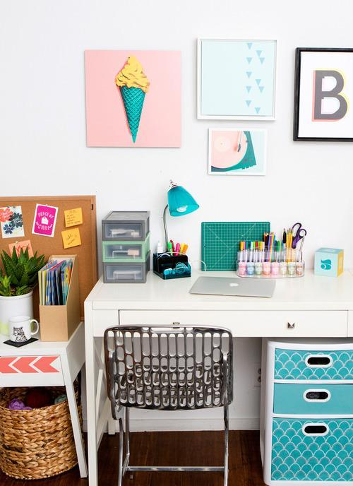32 Highly Creative And Cool Floor Designs For Your Home: 13 Essentials To DIY A Creative Workspace
