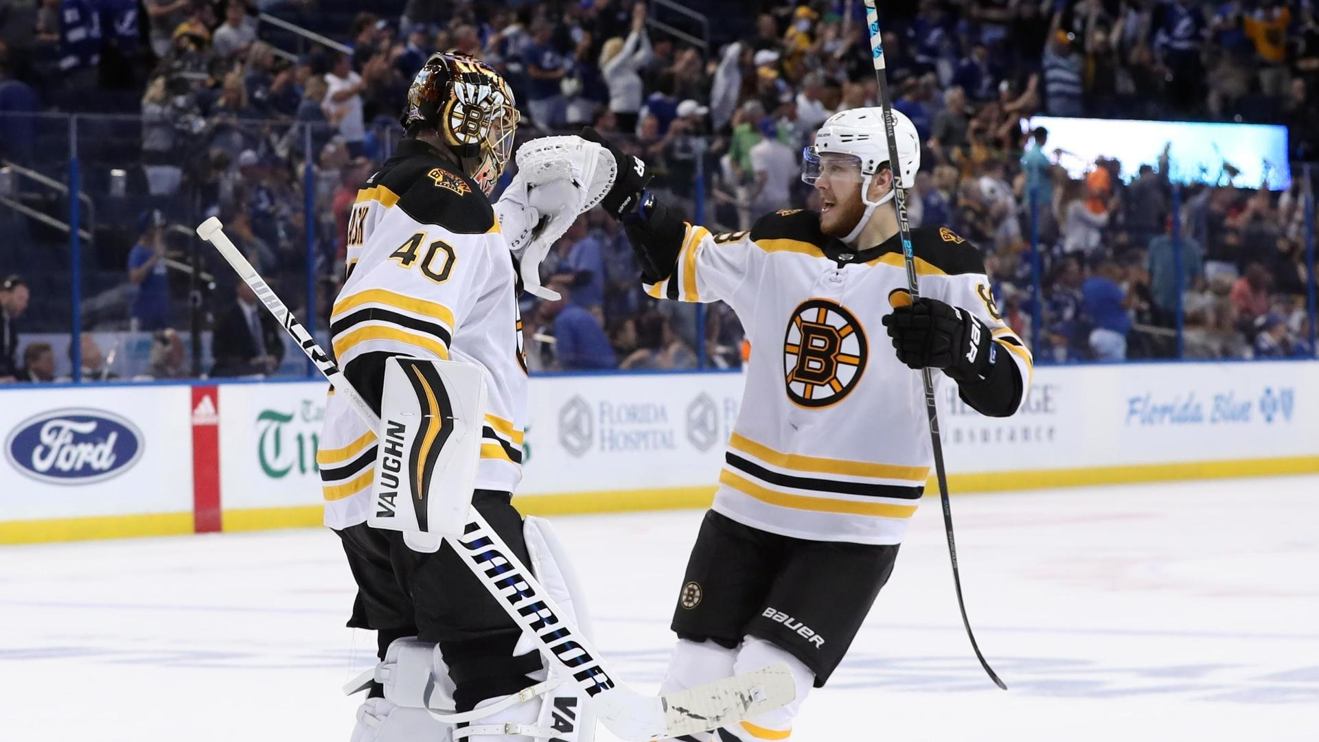Tuukka Rask, David Pastrnak 'unfit to participate' in practice as Bruins ready for Carolina