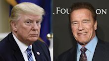 Arnold Schwarzenegger reacts to President Trump's jab about 'The Apprentice': 'Want to compare tax returns?'
