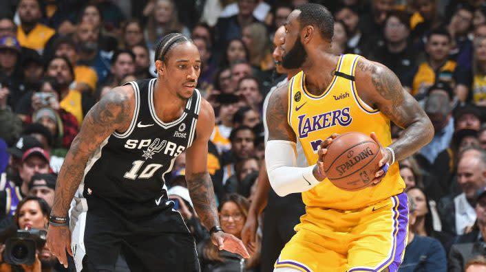 "DeRozan said he had talks with LeBron, Lakers, it ""just didn't work"" - Yahoo Sports"