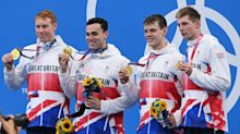 Great Britain win gold in men's 4x200m freestyle relay after dominant performance