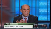 Upbeat retail data; Fed minutes ahead