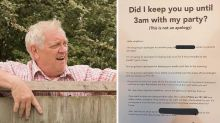 'Disturbed' boomer's angry note to loud neighbours goes viral