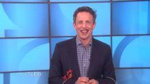 Ellen DeGeneres tortures Seth Meyers in an awards show boot camp