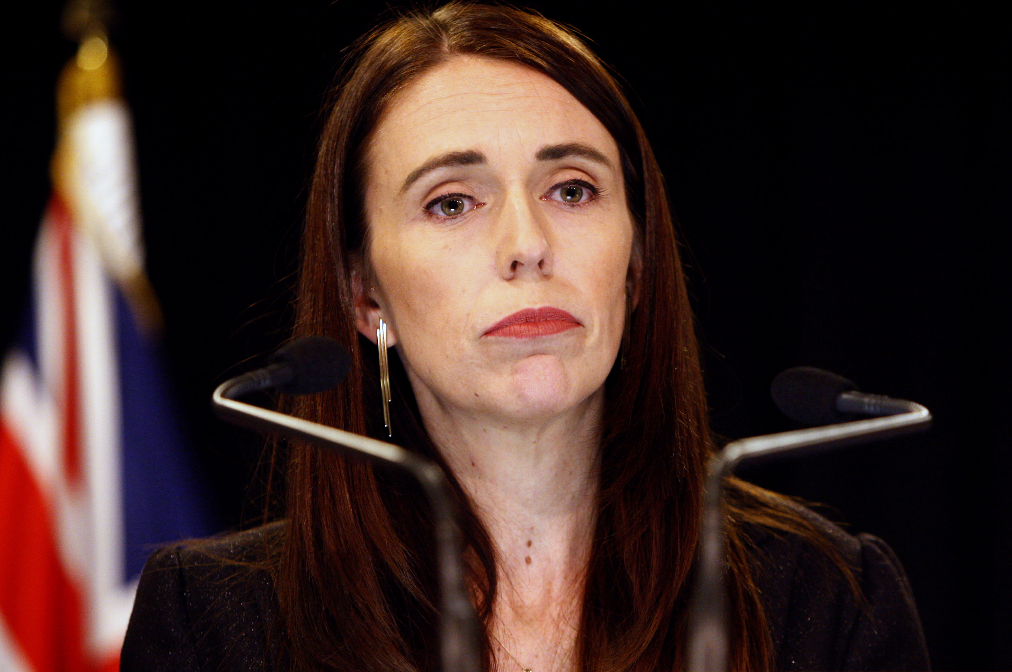 FILE - In this March 25, 2019, file photo, New Zealand Prime Minister Jacinda Ardern addresses a press conference in Wellington, New Zealand. Ardern has named a Supreme Court justice to head New Zealand's top-level investigation into the actions of security agencies and other issues related to the mosque shootings. (AP Photo/Nick Perry, File)