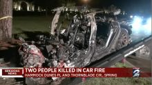 'No one was driving' Tesla before fatal fiery crash that kept reigniting, Texas cops say