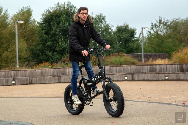 Carving up London on the monster Mate X electric bike