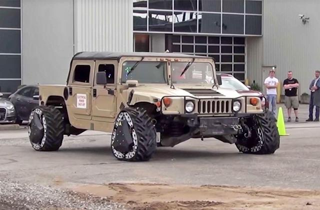 DARPA wheels change from tires to tracks without stopping