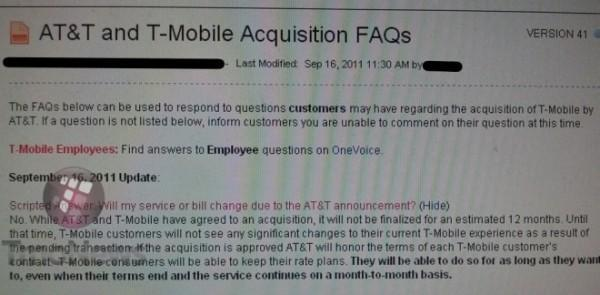 T-Mobile customers would be able to keep rate plans on AT&T after contract expires