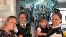 Baby boy born in Chiswick police station car park named Bobby by grateful mum