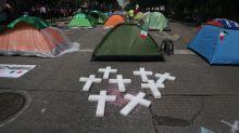 La acampada conservadora para desalojar al presidente mexicano se afianza