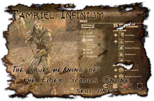 Tamriel Infinium: The true meaning of The Elder Scrolls Online skill lines