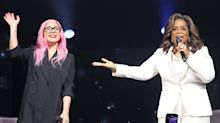 Oprah Winfrey Kicks Off Her Nationwide Wellness Tour with Julianne Hough and Guest Lady Gaga