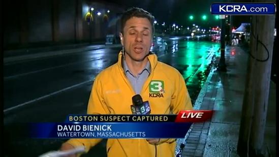 KCRA 3 on scene as Boston Bombing suspect is located