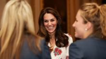 Kate Middleton wows in Alexander McQueen dress and reveals Charlotte's talent at Rio 2016 reception