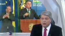 """Datena rebate Bolsonaro após fala contra a imprensa: """"Bundão é o senhor"""""""