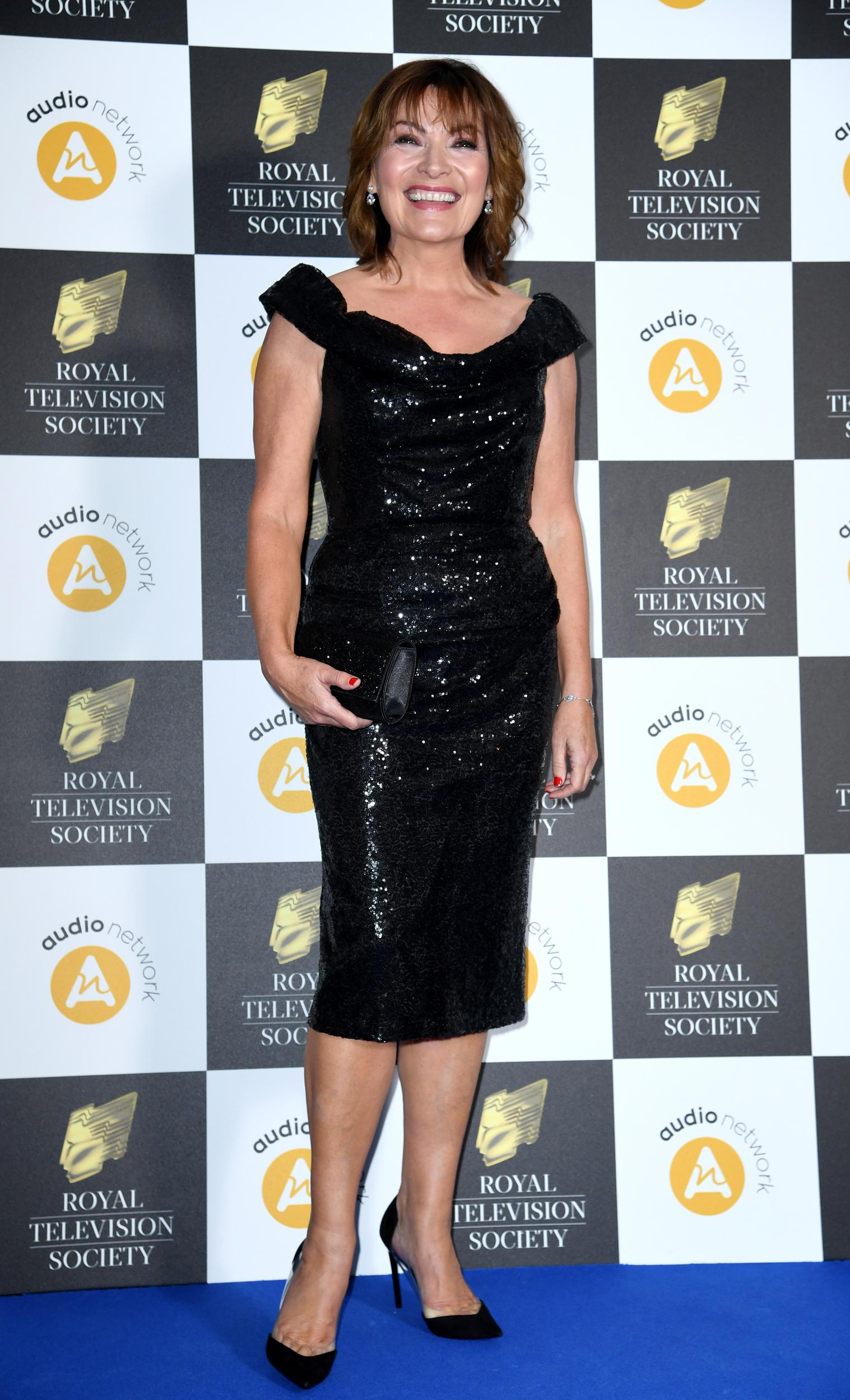 Lorraine Kelly attending the 2019 Royal Television Society Programme Awards, held at the Grosvenor Hotel, London. Photo credit should read: Doug Peters/EMPICS