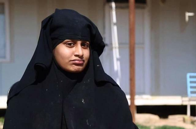 Shamima Begum reacting to question in news interview