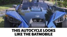 This autocycle looks like the Batmobile