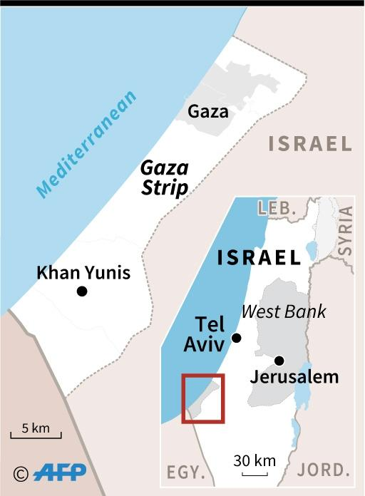 Map locating the Gaza Strip (AFP Photo/AFP)