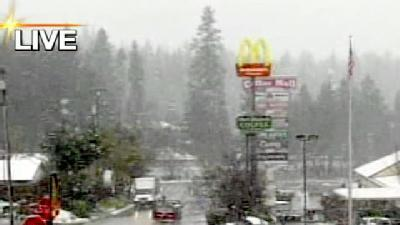Sierra Foothills Slammed By Snow