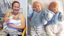 Mum stunned as twins are born two days apart