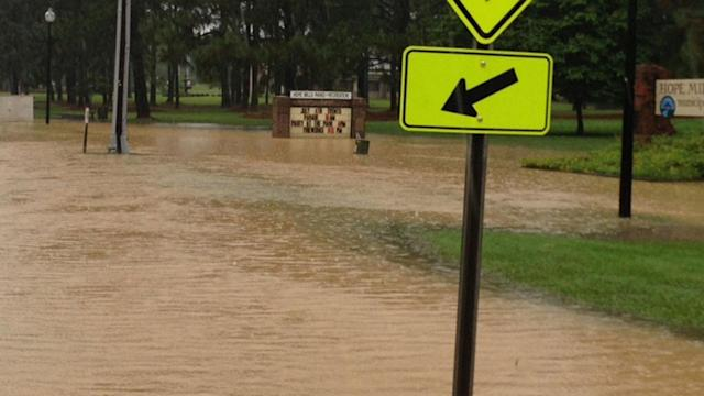 Storms pour in causing flooding