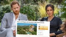 Fundraiser to pay off Harry and Meghan's $19m home shut down