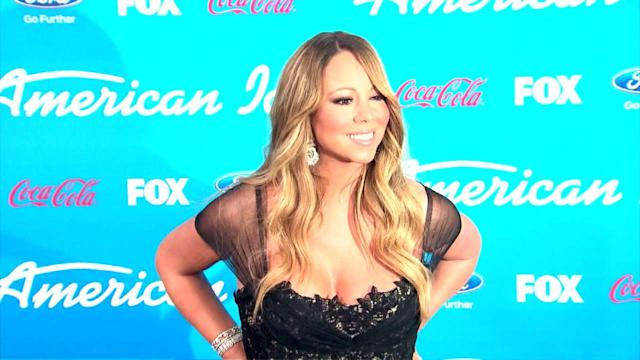 Mariah Carey Looks Beautiful in a Tiny Cut-Out Swimsuit