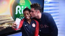 Simone Biles gets a kiss from her celebrity crush