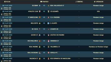 LaLiga Santander   Partidos, horarios y canal de TV de la penúltima jornada