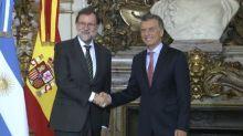 Rajoy y Macri reafirman plena sintonía política entre Argentina
