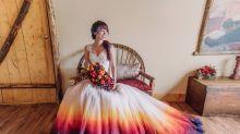16 Stunning Dip Dye Wedding Dresses To Inspire You
