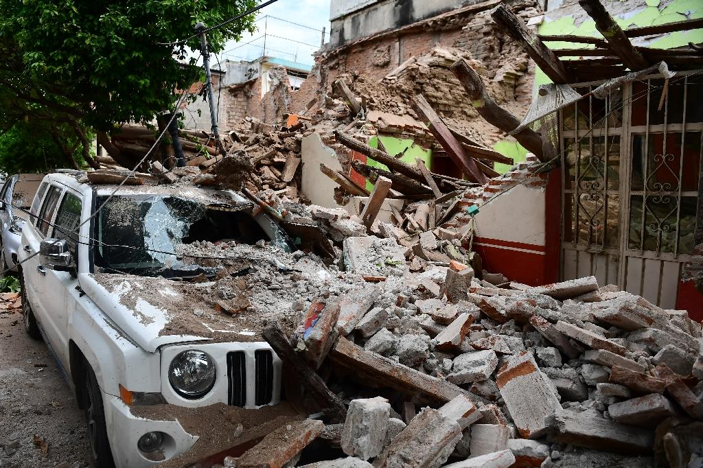 The devastation in Juchitan de Zaragoza caused by the huge earthquake that hit Mexico's Pacific coast (AFP Photo/RONALDO SCHEMIDT)
