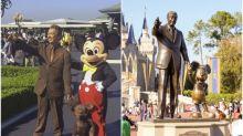【有片】米奇老鼠唔知點算 東京迪士尼見Walt Disney銅像Coser