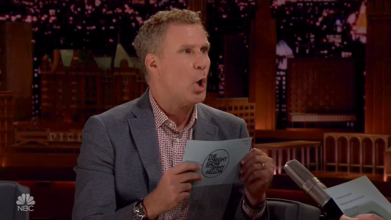 Will ferrell s hilarious answers to jimmy fallon s ridiculous questions video - Will ferrell one man show ...