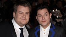 'Gavin and Stacey' stars James Corden and Mathew Horne go clubbing as they film Christmas special