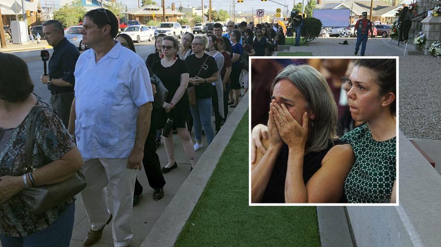 Strangers brave 100-degree heat to honor El Paso victim
