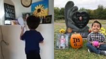 Un niño de Texas se roba el corazón de todos al hacer esto frente al altar de su hermanita