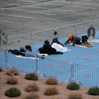 Las Vegas homeless forced to sleep in painted squares for 'social distancing requirements'