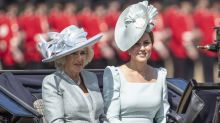 The Duchess of Cambridge wears icy blue Alexander McQueen at Trooping the Colour