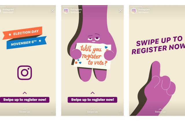 Instagram uses Stories to encourage voter registration