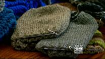Retirees Make Scarves, Helmet Liners For Veterans, Service Members