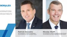 Boralex announces appointments of Patrick Decostre as Vice President and Chief Operating Officer and Nicolas Wolff as Vice President and General Manager, Boralex Europe