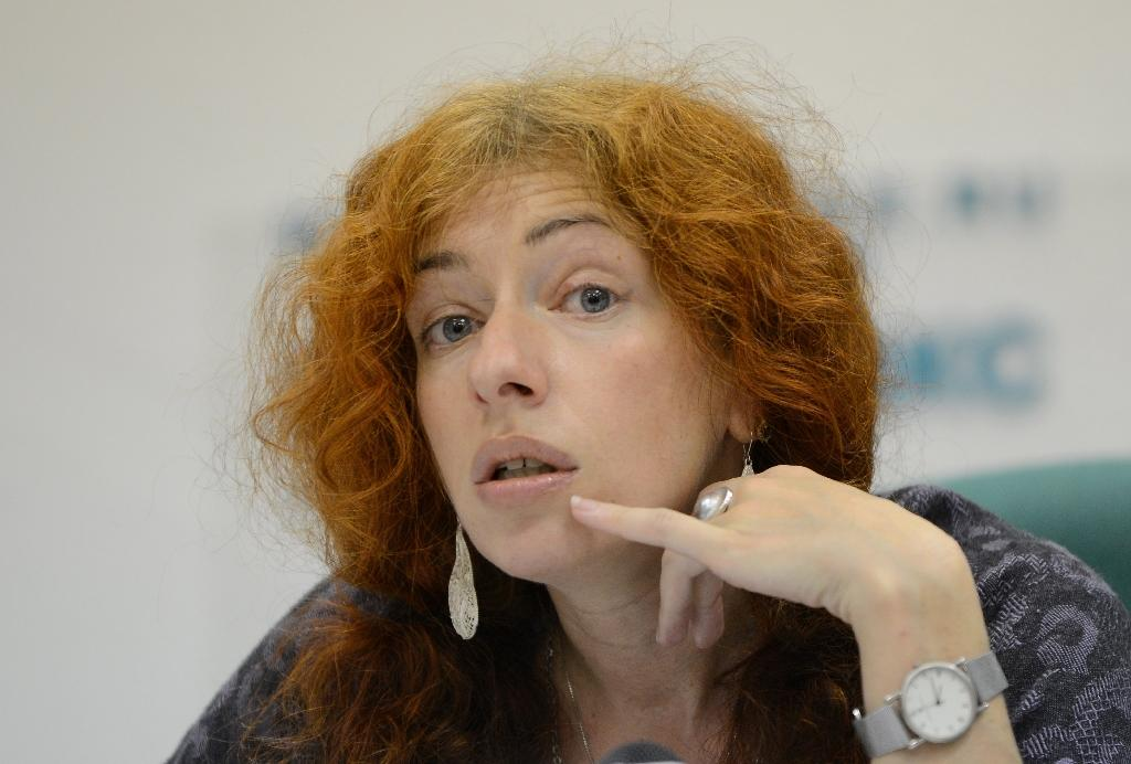 Tanya Lokshina, a Russian programme director at Human Rights Watch, pictured on October 4, 2012, is among activists conserned over the offical move to bar the US National Endowment for Democracy from operating in Russia (AFP Photo/Natalia Kolesnikova)
