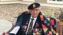 Sunny Corner's last WW II veteran, Cecil Mullin, receives quilt of valour