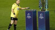 Rugby - CE - Finale - Coupe d'Europe: horloge pas parlante pour clore la finale entre le Racing 92 et Exeter