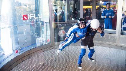Special-needs students break indoor tandem skydiving record