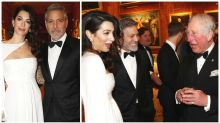 Amal and George Clooney charm Prince Charles at Buckingham Palace
