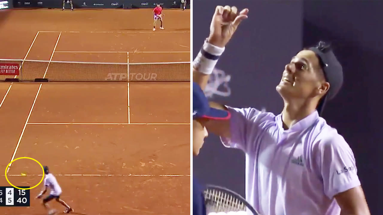 'Can't believe it': Ridiculous match point drama stuns tennis fans